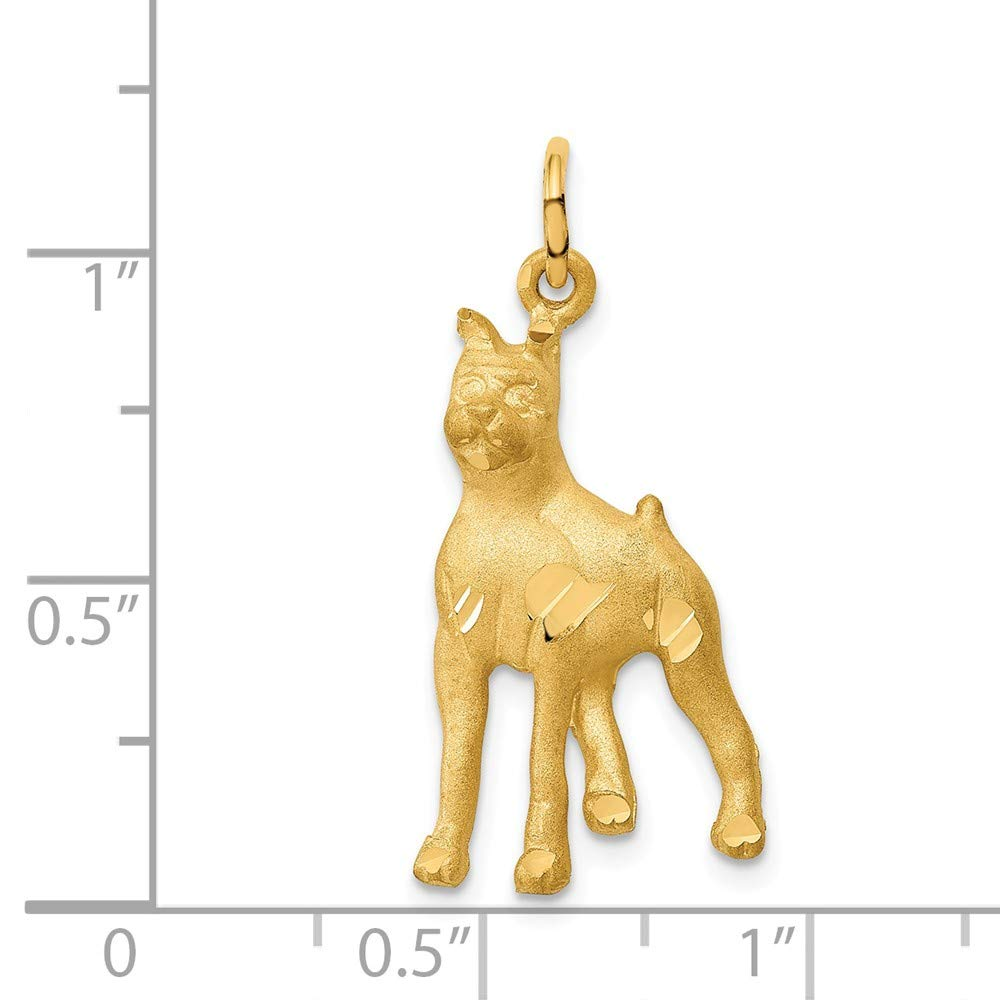 14k Yellow Gold Yellow Gold Solid Polished Boxer Charm