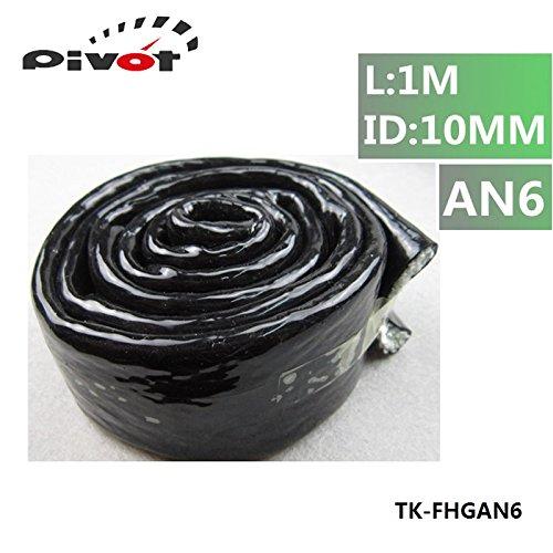 luxbody ( TM )高温度熱an6バルカン火災スリーブ火災Braid Flame Shieldブラック3 / 8 x 1 m ID : 10 mm pt-fhgan6