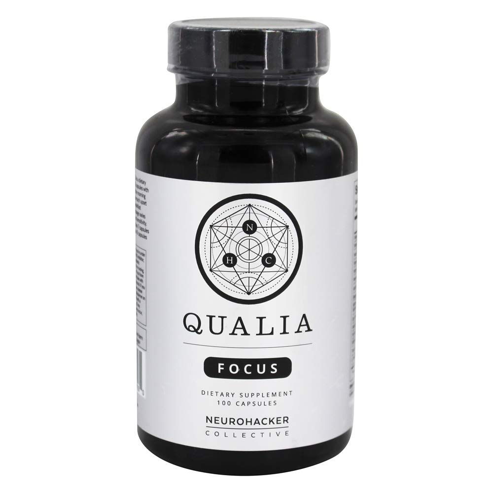Qualia Focus Nootropics   The Brain Supplement for Focus, Supporting Memory, Mental Clarity, Energy, Reasoning, and Concentration with Ginkgo biloba, Bacopa monnieri, Celastrus, Rhodiola rosea & More