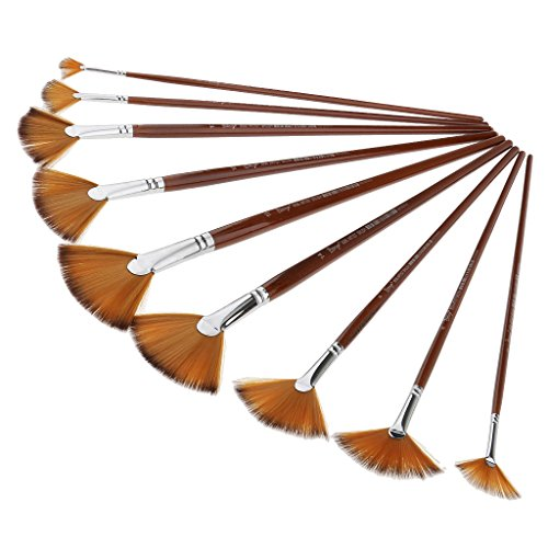 The 12 Assorted Size Artist Painting Brushes Set - 5