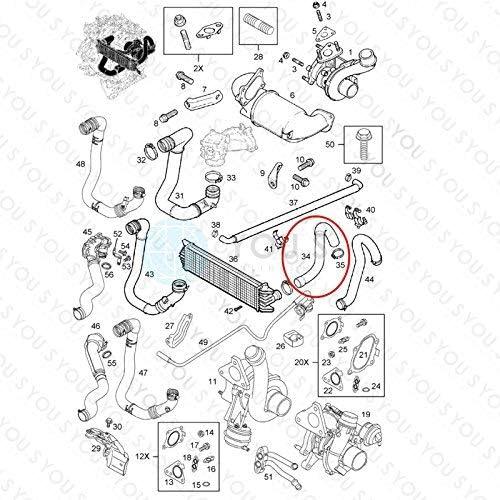 YOU.S Original 4404404 Ladeluftschlauch Innendurchmesser ca 48//54 mm