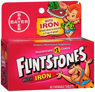 Flintstones Children's Multivitamin Plus Iron Chewable Tablets, 60-Count (Pack of 3) Review