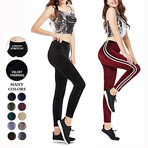VooVeeYA Winter Leggings for Women Thermal Full-Length Velvet Leggings   10 Colors   One Size & Plus Size