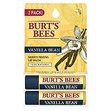 Burts Bees 2pk  Beeswax Lip Balm Burt's Bees 100% Natural Moisturizing Lip Balm, Vanilla Bean, 2 Count
