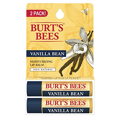 Burt's Bees 100% Natural Moisturizing Lip Balm, Vanilla Bean - 2 (Skin Care Vanilla Bean)