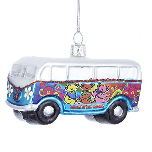 Kurt Adler Glass Grateful Dead Ornament, 4-Inch