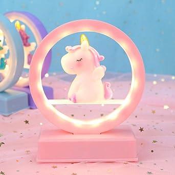Uonlytech luz de noche led, caja de música de unicornio con luz ...