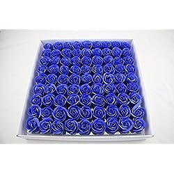 81 Caja de Regalo de Flor de Jabón Rosa Romántico Creativo Día de San Valentín Matrimonio de Cumpleaños Confesión Girlfrie,Azul oscuro