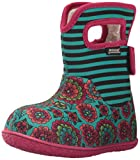 Bogs Baby Bogs Waterproof Insulated Toddler/Kids Rain Boots for Boys and Girls, Pansy Stripe Print/Emerald/Multi, 6 M US Toddler