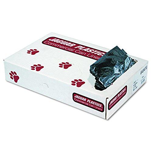 Jaguar Plastics G4347G Low-Density Commercial Can Liners, 56gal, 1.3mil, Gray (Case of 100)