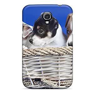 Top Quality Rugged Puppies In Basket Case Cover For Galaxy S4