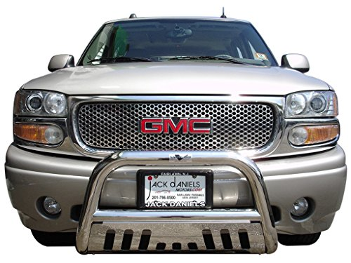 VANGUARD Off Road VGUBG-0950SS Multi-fit Bumper Guard Stainless Steel Bull Bar with Skid Plate