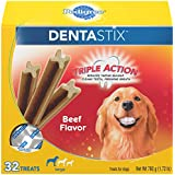 PEDIGREE DENTASTIX Large Dental Dog Treats Beef Flavor, 1.72 lb. Pack (32 Treats)
