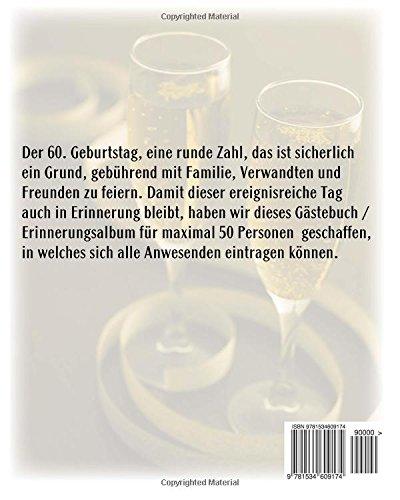 60 Geburtstag Erinnerungsbuch Gästebuch Erinnerungsalbum Für Max