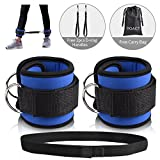 #10: DOACT Fitness Ankle Straps for Cable Machines with Hook and Loop Resistance Band, Double D-Ring Designed, Adjustable Ankle Cuffs for Hip, Leg Strength and Yoga Boxing Workouts