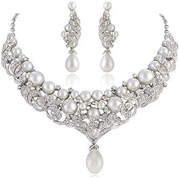 Amazon.com: Janefashions Victorian Pearl White Austrian
