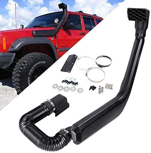 Black Cold Air Intake Vehicle Snorkel Kit Compatible with 1984-2001 Jeep Cherokee XJ