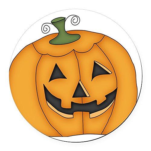 CafePress - Halloween Pumpkin Design Round Car Magnet - Round Car Magnet, Magnetic Bumper Sticker