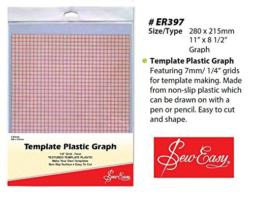 EZ International Quilting Heat Resistant Mylar Template Plastic Sheets Bundle 12in x 18in 4 Sheets