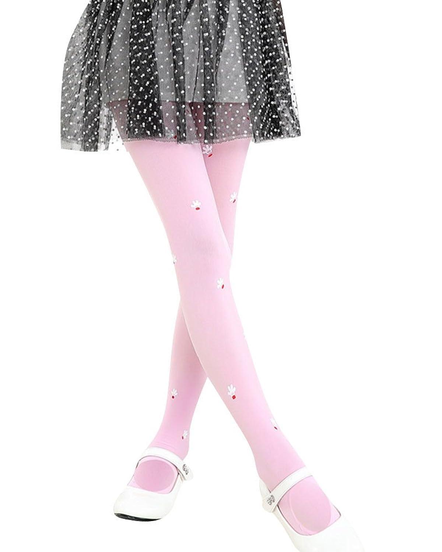 Medias Niñas Leggings Con Pies Elásticos Suave Pantimedias Pantys Leggings Pink L
