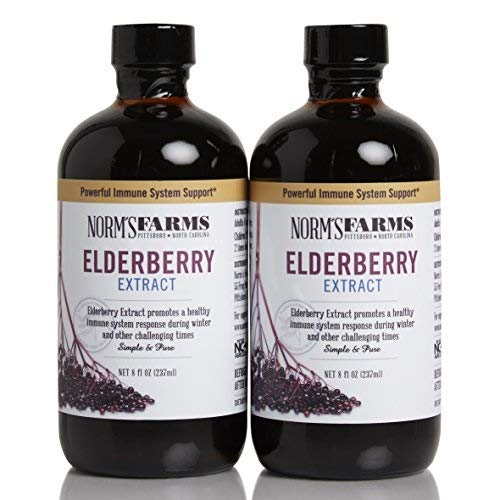 (Norm's Farms Black Elderberry Extract 8 Ounce Bottle, Pack of 2)