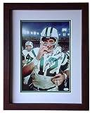 Joe Namath 1969 Jets SB signed 10x14 photo framed auto HOF RARE INS JSA COA