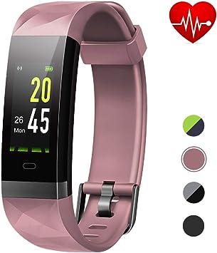 Lintelek Pulsera Inteligente con GPS, Smartwatch Impermeable IP68 ...