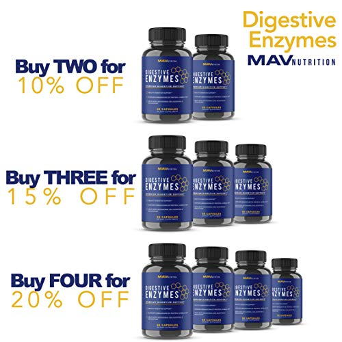 Digestive Enzymes + Probiotics Supplement Designed to Decrease Bloating and Flatulence with Protease Enzyme, Bromelain, and Lactase; Digestion Aid with Three Powerful Strains of Bacteria; NON-GMO by MAV Nutrition (Image #4)
