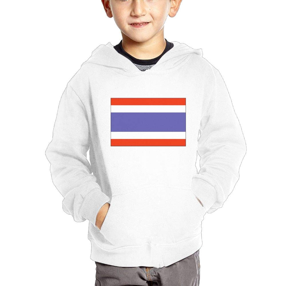 JIANGSHAN Thailand Flag Breathable Hooded Pocket Sweater for Children Spring//Autumn//Winter Outfit Long-Sleeved Hoodie