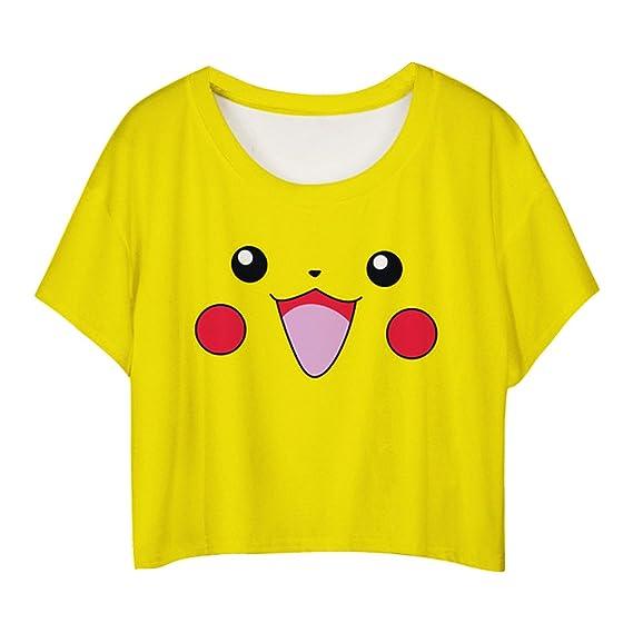 MingTai Mujeres Camiseta Manga Corta Con Cuello Redondo Camisetas Cortas Personalizadas Camisas Blancas Mujer Basicas Divertidas: Amazon.es: Ropa y ...