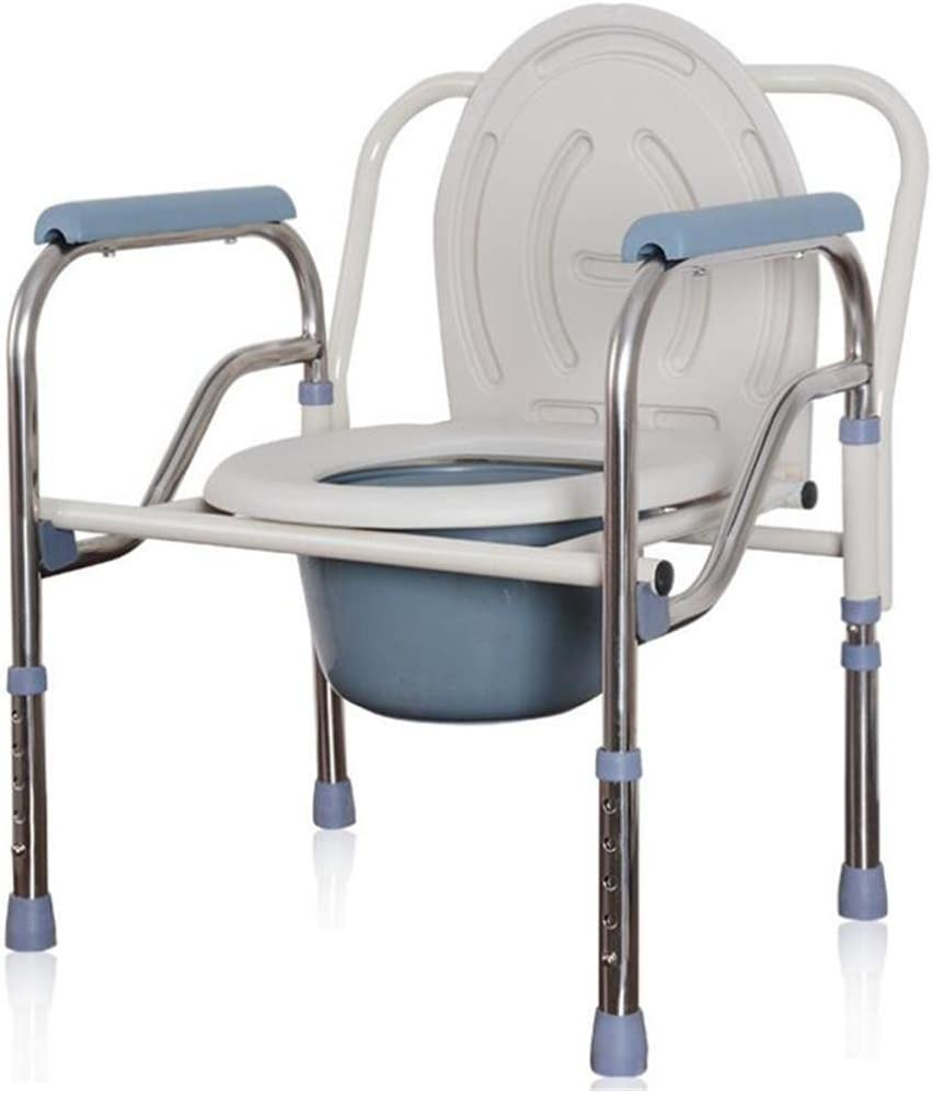 Amazon.com: Folding Commode Toilet Seat Adjustable Height Mobility