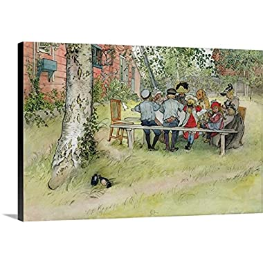 Carl Larsson Premium Outdoor Canvas Wall Art Print entitled Breakfast under the Big Birch, from 'A Home' series, c.1895