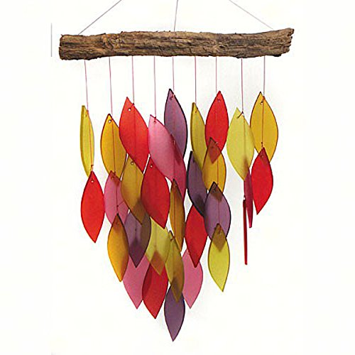 KensingtonRow Home Collection Wind Chimes - Desert Canyon Glass Waterfall Windchime - Wind Chime