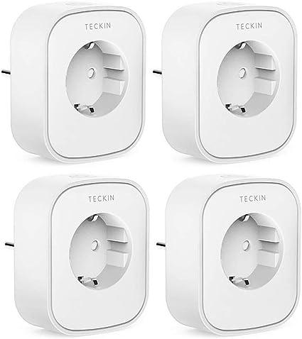 Echo, Echo Dot teckin WiFi Smart Prise intelligente Plug Alexa WiFi distance Compatible avec Alexa et Google Home /4/Packs avec contr/ôle dapplication nimporte o/ù et nimporte quand 10/A-2200/W/