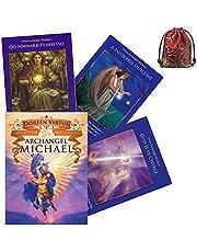 44pc Archangel Michael Oracle Cards Däck Tarot Kort Slitstarkt Party Game Coated Card Paper Spela Kortbräda Spel med PDF Guidance Book (med silkesväska)