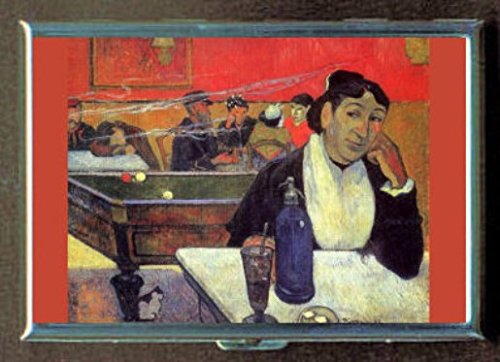 Night Gauguin Cafe - Paul Gauguin Night Cafe Arles Stainless Steel ID or Cigarettes Case (King Size or 100mm)