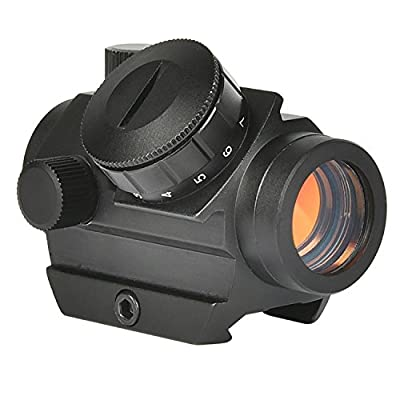 MidTen Tactical Micro Red Dot Gun Sight, 4MOA Compact Red Dot Scope with Riser Mount for 20mm Rail