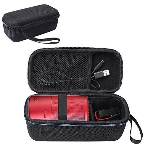 Esimen Hard Travel Case for Nebula Capsule Smart Mini Projector by Anker and USB Flash Drive Accessories Carry Bag Protective Storage Box (Black)