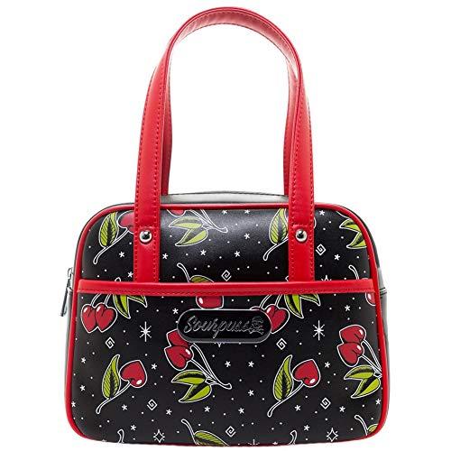 Sourpuss Love Cherries Mini Bowler Purse ()