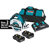 "Makita XSH06PT1 18V x2 LXT Lithium-Ion (36V) Brushless Cordless 7-1/4"" Circular Saw Kit with 4 Batteries (5.0Ah)"