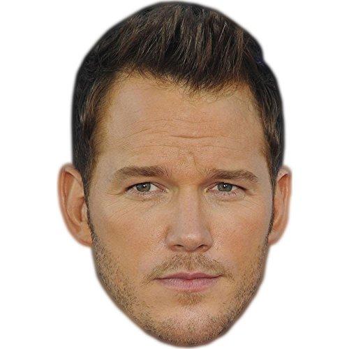 Chris Pratt Celebrity Mask, Card Face and Fancy Dress Mask -