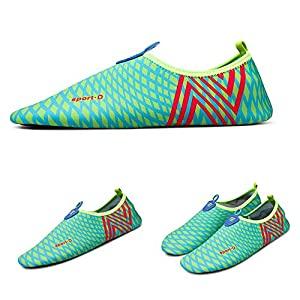 Best Water Shoes For Water Beach Yoga Swim Proof Pool Tennis Boat Hiking Walking Swimming Running Size 11 10 8 6 9 .5 Black Blue White Red Barefoot Shoes Socks Hlm (Us Women-10/Men-9 - 4.1 Mint )