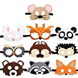 HAMMERHIT Forest-Friends Felt Masks 10 pcs Animal Cosplay Charater Mask Party Favors Supplies for kids Boys or Girls