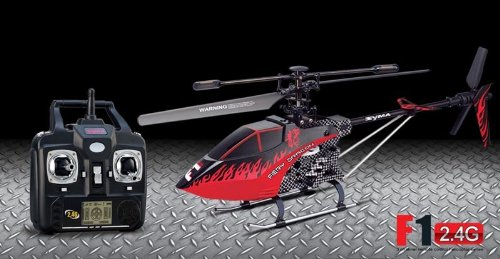 2013 new Syma F1 – 3.5CH Single-Blade RC 2.4G Helicopter -Toys Agency Syma F1 Color RED