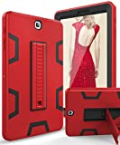 TIANLI Galaxy Tab S2 9.7 inch Cover Case with Heavy Duty Protection TPU and Plastic Full Body Protection with Portable Tablet Kickstand Case for Samsung Galaxy Tab S2 9.7 inch,Red/Black
