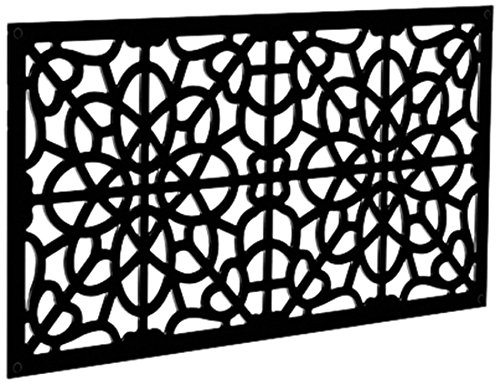 (YardSmart 73004786 Decorative Screen Panel 2X4-Fretwork, Black)