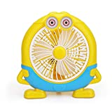Gift Little Yellow Man Fan Cartoon Desk Fan Office Desk Student Mini Household Appliances Fan