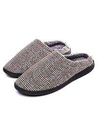 Lauwodun Women Men House Slippers Memory Foam Soft Shoes for Indoor&Outdoor