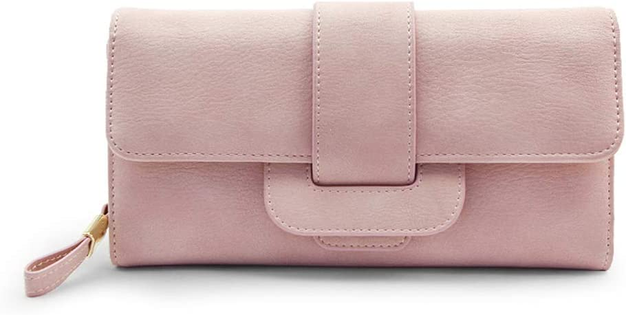 Monederos Billetera de Mujer Billetera 2018 Nueva sección Larga Femenina Versión Coreana del pequeño Bolso de Embrague Simple y multifunción Simple. (Color : Black, Size : 21.5 * 2 * 15cm)