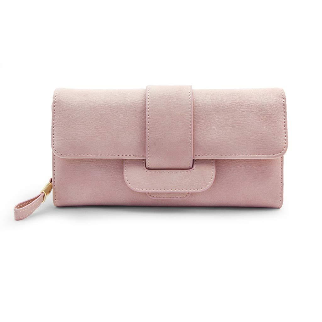 TALLA 21.5*2*15cm. Monederos Billetera de Mujer Billetera 2018 Nueva sección Larga Femenina Versión Coreana del pequeño Bolso de Embrague Simple y multifunción Simple. (Color : Black, Size : 21.5 * 2 * 15cm)